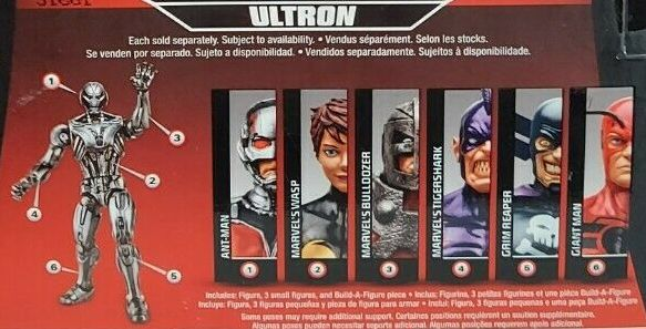 Hasbro Marvel Legends 2015 Ultron Build a Figure Series Wave 9 Ant-Man Bulldozer Giant Man Giant-Man Grim Reaper Tiger Shark Wasp Figures