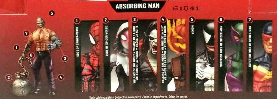 Hasbro Marvel Legends 2016 Absorbing Man Build a Figure Series Beetle Ben Reilly Spider-Man Mad Jack Morbius Speed Demon Spider Gwen Spider-Gwen Venom Figures
