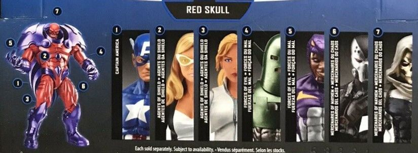 Hasbro Marvel Legends 2016 Onslaught Red Skull Build a Figure Series Captain America Cottonmouth Mockingbird Scourge Sharon Carter Task Master Whirlwind Figures