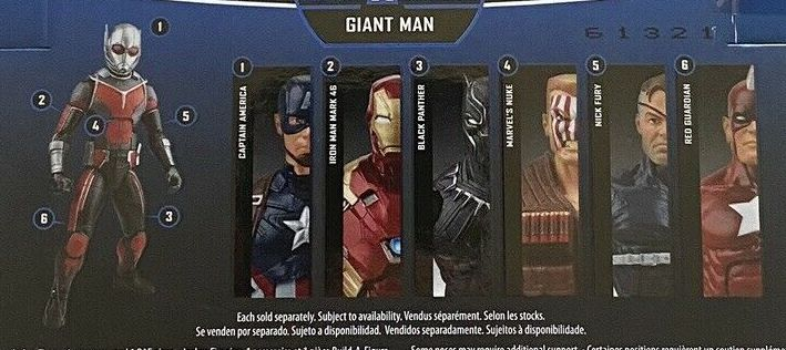 Hasbro Marvel Legends 2016 Giant Man Giantman Build a Figure Wave Black Panther Captain America Iron Man Mark 46 Nick Fury Nuke Red Guardian Figures