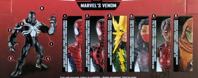 Hasbro Marvel Legends 2016 Space Venom Build a Figure Wave Electro Hobgoblin Silk Spider-Girl Spidergirl Ultimate SpiderMan Spider-Man Peter Parker Mike Morales Figures
