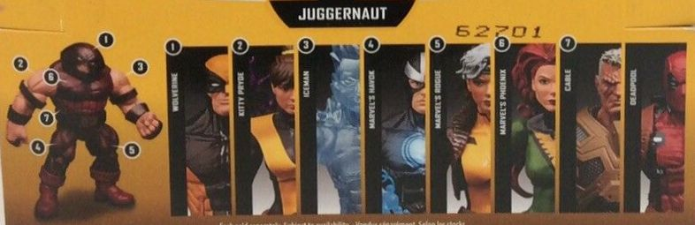 Hasbro Marvel Legends 2016 Juggernaut Build a Figure Wave Cable Deadpool Havok Iceman Kitty Pryde Phoenix Rogue Wolverine Figures