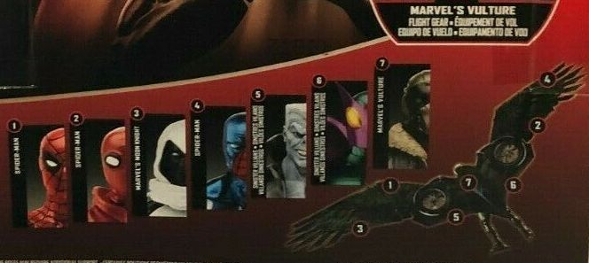 Hasbro Marvel Legends 2017 Vulture Wing Parts Build a Figure Wave Beetle Mark II Cosmic Spider-Man Moon Knight Proto Suit Tombstone Vulture Figures