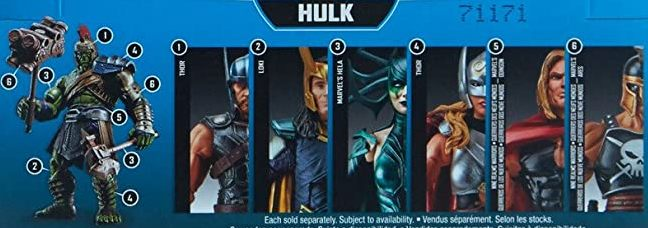 Hasbro Marvel Legends 2017 Gladiator Incredible Hulk Parts Build a Figure Wave Ares hela Loki Odinson Thor Jane Foster Figures