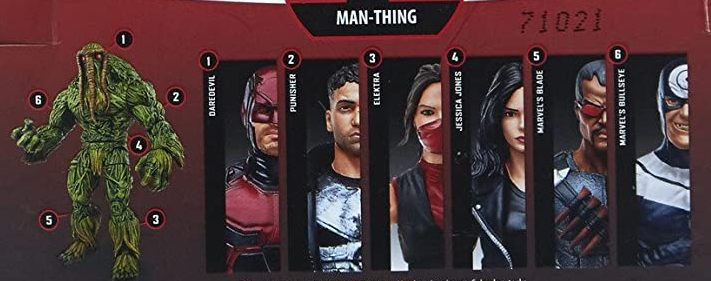 Hasbro Marvel Legends 2017 Man-Thing Build a Figure Wave Blade Bullseye Daredevil Elektra Jessica Jones Punisher Figures