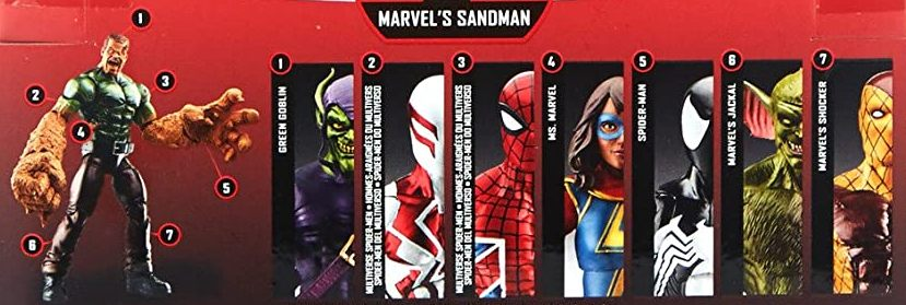 Hasbro Marvel Legends 2017 Sandman Build a Figure Wave Green Goblin Jackal Ms Marvel Shocker Spider-Man 2099 Spider UK Symbiote Spider Man Figures