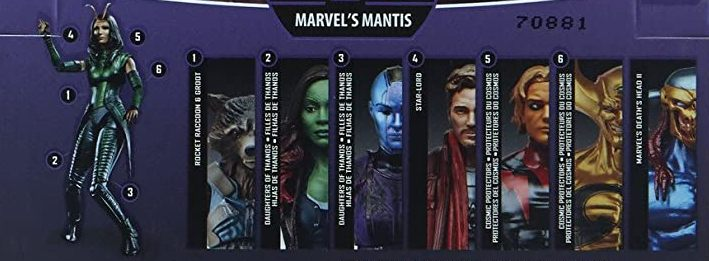 Hasbro Marvel Legends 2017 Mantis Build a Figure Wave Adam Warlock Deaths Head II Ex Nihilo Gamora Nebula Rocket Raccoon Star Lord Figures