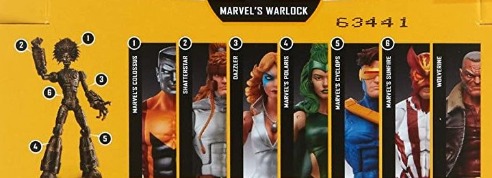 Hasbro Marvel Legends 2017 Warlock Build a Figure Wave Colossus Cyclops Dazzler Polaris Shatterstar Sunfire Wolverine Figures