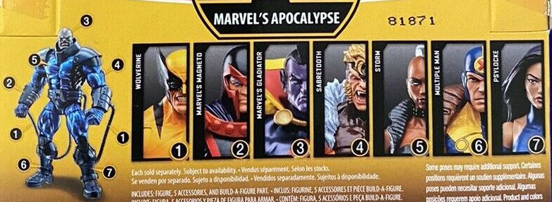Hasbro Marvel Legends 2018 Apocalypse Build a Figure Wave Wolverine Storm Magneto Psylocke Multiple Man Sabretooth Gladiator Figures