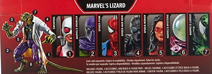 Hasbro Marvel Legends 2018 Lizard Build a Figure Wave Spider-Punk Gwen-Pool Mysterio Variant Spider-Woman Spiderwoman Noir Prowler Lasher Figures