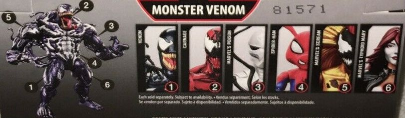 Hasbro Marvel Legends 2018 Monster Venom Build a Figure Wave Carnage Poison Spider-Man Scream Spider-Ham Typhoid Mary Venom Figures