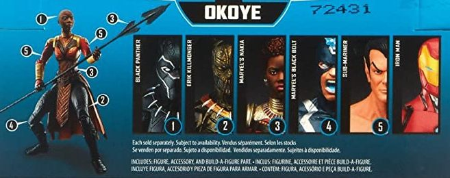 Hasbro Marvel Legends 2018 Okoye Build a Figure Wave Black Bolt Black Panther Erik Killmonger Iron Man Nakia Namor Figures