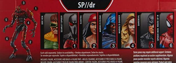 Hasbro Marvel Legends 2018 Sp DR SPDR SP/DR Build a Figure Wave Cloak Dagger Dr Octopus Doc Ock Elektra Scarlet Spider Kaine Parker Spider-Man House of M Figures