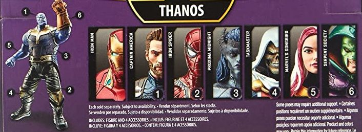 Hasbro Marvel Legends 2018 Thanos Build a Figure Wave Captain America Iron Man Iron Spider King Cobra Proxima Midnight Songbird Taskmaster Figures
